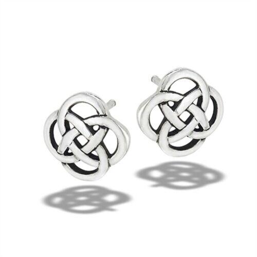 Sterling Silver Celtic Knot Stud Earring