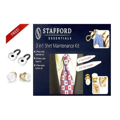 Stafford 3 in 1 No-Sew Shirt Maintenance Clothing Care Kit 367300