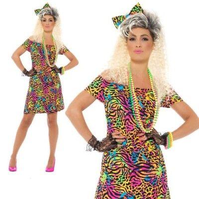 80er Jahre Party Kostüm Damen Kostüm Neon Rave Eighties Damen - 80er Jahre Rave Kostüm