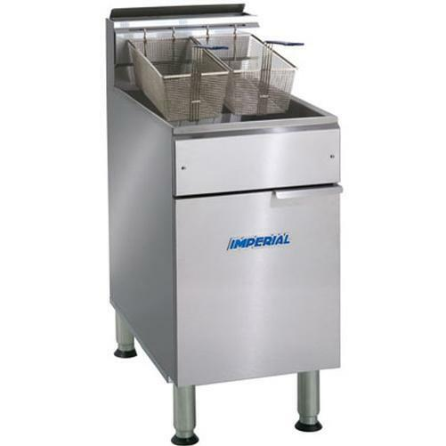 Imperial Range Ifs-75 75lb Gas Floor Model Deep Fryer - 175,000btu