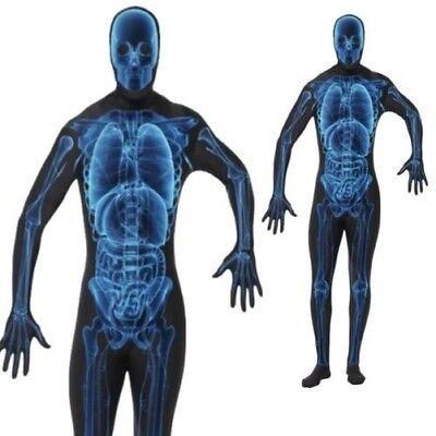 Herren Röntgenbild Kostüm Body Zweite Haut Unheimlich Erwachsene - Unheimliche Kostüm Bilder