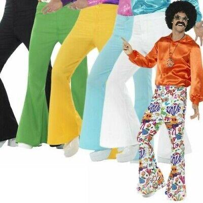 1970s Herren 1960er Jahre Schlaghose Groovy Disko Schlaghosen Kostüm Hippie