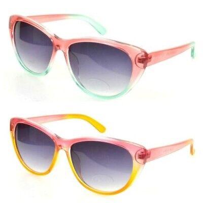 Jahre Style Katzenaugen Pink Sonnenbrille Hell Bunt Ombre (Hell Pink Sonnenbrille)