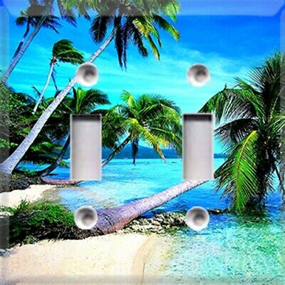 Tropical Palm Trees Beach Themed Light Switch Plate Cover ~ Choose Your Cover ~](Beach Light Switch Covers)
