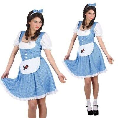 tüm Damen Zauberer von oz Kostüm Größe 6-28 (Zauberer Von Oz Dorothy Kostüme)