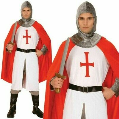 Erwachsene Ritter st George England Rugby Herren Kreuzfahrer Mittelalter - England Ritter Kostüm