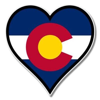 Colorado Heart - Colorado Flag Heart Car Laptop Phone Vinyl Sticker  - SELECT SIZE