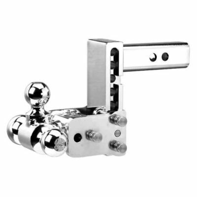 "B&W TS20048C Tow & Stow 3-Ball Mount Hitch 5"" Drop, 4.5"" Rise Chrome, used for sale  USA"