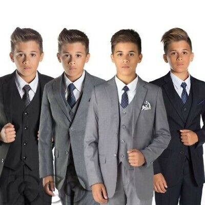 g Marineblau Grau Anzug, Jungen Anzüge (Grau Jungen Anzüge)