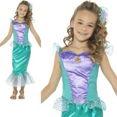 Kinder Meerjungfrau Kostüm Buchwoche Tag Mädchen Ariel Kostüm Outfit 4-12 Jahre