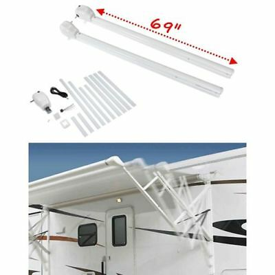 "Lippert 434730 RV Trailer Motorhome 69"" Solera Patio Awning Arm White"