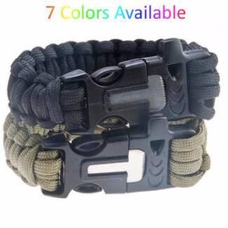 Outdoor Paracord Survival Bracelet Fire Starter Scraper Whistle Kingsley Joondalup Area Preview