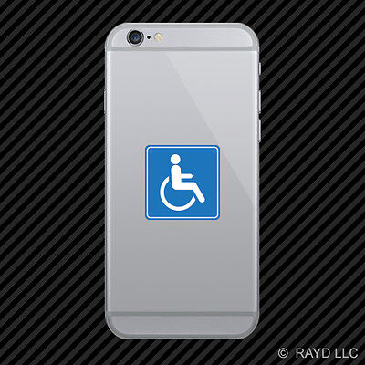 Handicap Cell Phone Sticker Mobile Die Cut Wheelchair Accessible