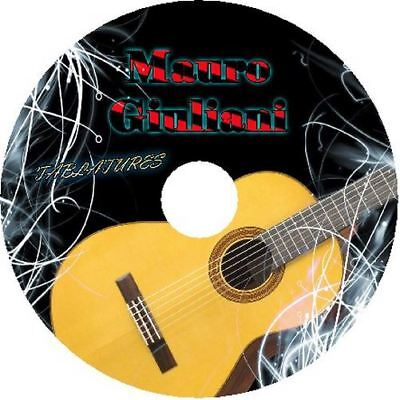 MAURO GIULIANI CLASSICAL GUITAR TAB CD TABLATURE BEST ACOUSTIC FINGERSTYLE (Best Classical Guitar Tabs)