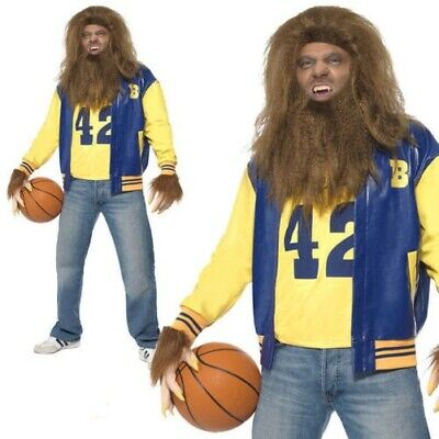 Teen Wolf Werewolf Costume (Teen Wolf Mens 80s Costume Licensed Fancy Dress Adults)