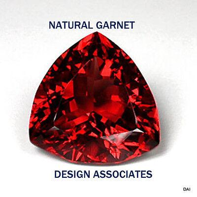 10 MM TRILLION CUT NATURAL RED GARNET VVS