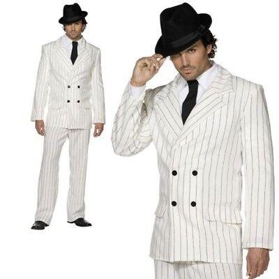 Erwachsene Weiß Gangster Kostüm 20er Sexy Mafia Boss - Gangster Outfits