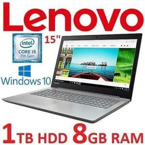 "RFB LENOVO IDEAPAD NOTEBOOK PC 80XL02MRCF 176737819 15"" I5-7200U 8GB RAM 1TB HDD WIN10 REBURBISHED LAPTOP COMPUTER"