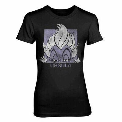 Tailliert T-Shirt Schwarz - Kleine Meerjungfrau Bösewicht (Böse Meerjungfrau)