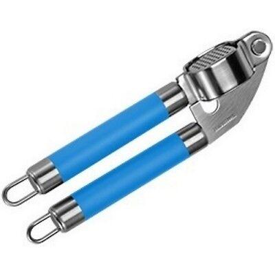 Massive Knoblauchpresse 20,5 cm Knoblauch-Presse mit Soft-Touch-Griffen - blau