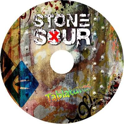 STONE SOUR BASS & GUITAR TAB CD TABLATURE GREATEST HITS BEST OF ROCK MUSIC
