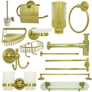 Accessori da bagno set serie retr oro ebay - Accessori bagno oro ...