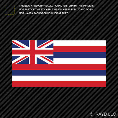 "4"" Hawaii Flag Sticker Decal Self Adhesive Vinyl hawaiian state the aloha ()"
