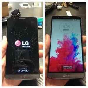 FAST LG PHONES REPAIR, G3, G4, G5, NEXUS SCREENS 90 days Warrant