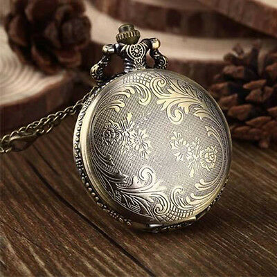 Kyпить Antique Vintage Retro Bronze Quartz Pendant Chain Necklace Figure Pocket Watch на еВаy.соm