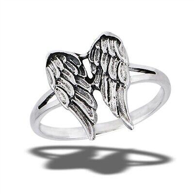 Sterling Silver Angel Wings Ring - Free Gift Packaging - Free Angel Wings