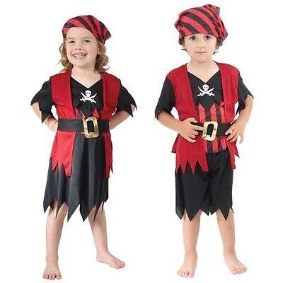 2-3 Jahre Mädchen Junge Kleinkind Piraten Kostüm Kinder Buch Woche Kostüm ()