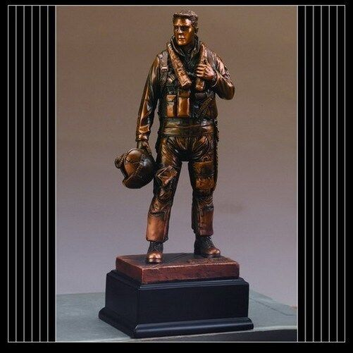 Military Armed Forces AIR FORCE Beautiful Bronze Statue / Sculpture Brand New