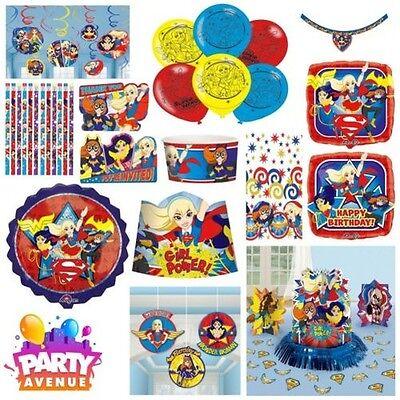 DC Girl Superhelden Aufkleber Geschirr Ballon Partydekorationen