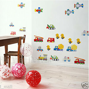 TOY'S CARS, AIRPLANES, TRUCKS....Kids Wall Sticker for kids room or Nursery