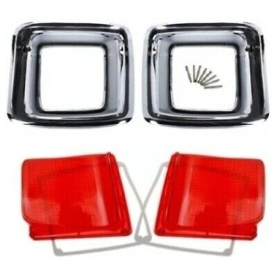For Chevy 3100 57-58 Driver /& Passenger Side Lower Replacement Tail Light Lens