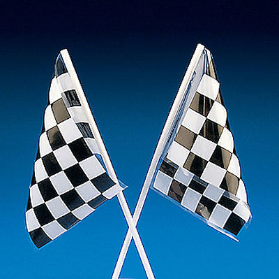 24 CHECKERED FLAGS Finish Line Car RACING NASCAR Race Party favors - Car Party Decorations