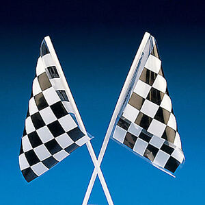 24 CHECKERED FLAGS Finish Line Car RACING NASCAR Race Party favors