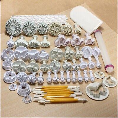 68 pcs Sugarcraft Cake Decorating Fondant Plunger Cutters Tools Mold Cookies USA