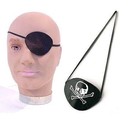 Textil-Augenklappe mit oder ohne Totenkopf für Piratenkostüm Fasching Karneval - Augenklappe Pirat Kostüm