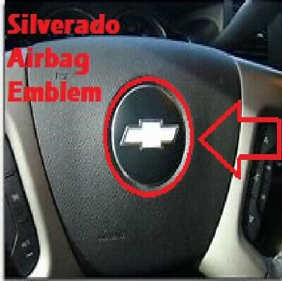 ONE Chevrolet Steering Wheel Airbag Emblem logo badge Chevy Chevrolet SILVERADO