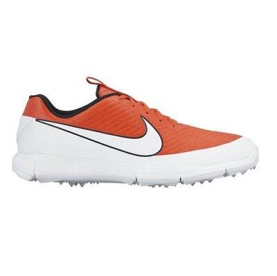 (New - Nike Mens Explorer 2 Golf Shoes- Max Orange/White-Black - NIB)