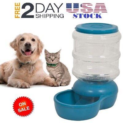 AutoGravity Feeder 5 Gallon Dispenser Dog Cat Pet Food Fountain Bowl Dish Large