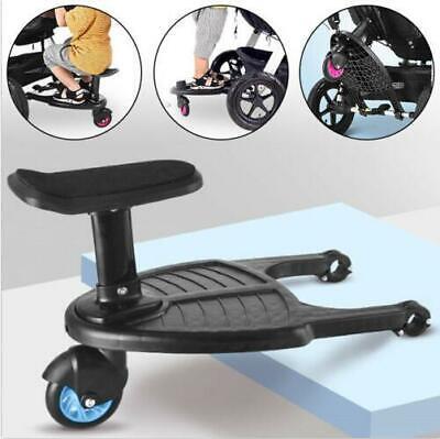 Buggy Board mit Sitz Universal Kiddy Board Trittbrett für Kinderwagen Rollbrett ()