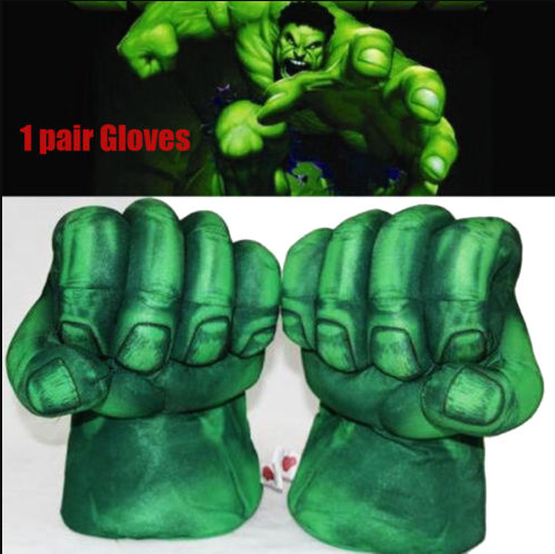 Kids Hulk Boxing Gloves Plush Toy Big Hand Gloves Play Toy Cosplay Gloves Gift