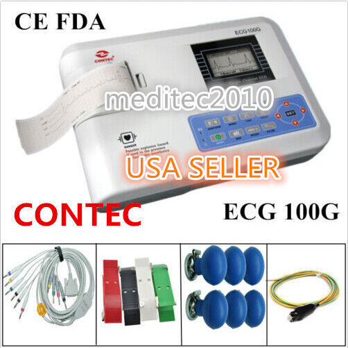 CONTEC ECG100 machine,Digital Single channel 12-lead system Electrocardiograph