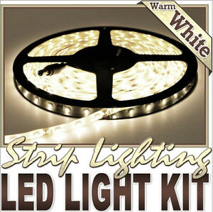 32.8' Feet Warm White 600 LEDs Light Remote Control Dimmer Kit S
