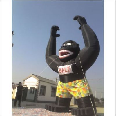 20ft Inflatable Black Gorilla Advertising Promotion with Blower - Inflatable Gorilla