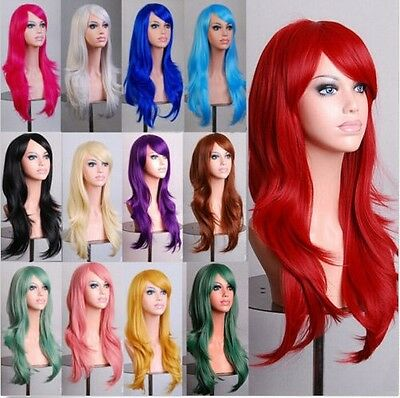 70cm Long Curly Fashion Cosplay Costume Party Hair Anime Wigs Full Hair Wavy Wig (Anime Costumes For Women)