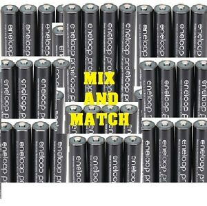 8x-PANASONIC ENELOOP PRO RECHARGABLE NIMH AA AAA BATTERIES INC 2X CASES FREE