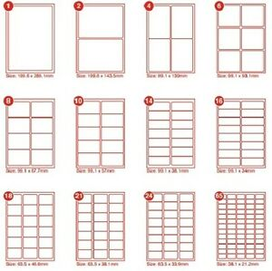 30 Self Adhesive Printer Labels/ A4 Sheet x 5 70x 29.6 Compat with * Avery 3489®